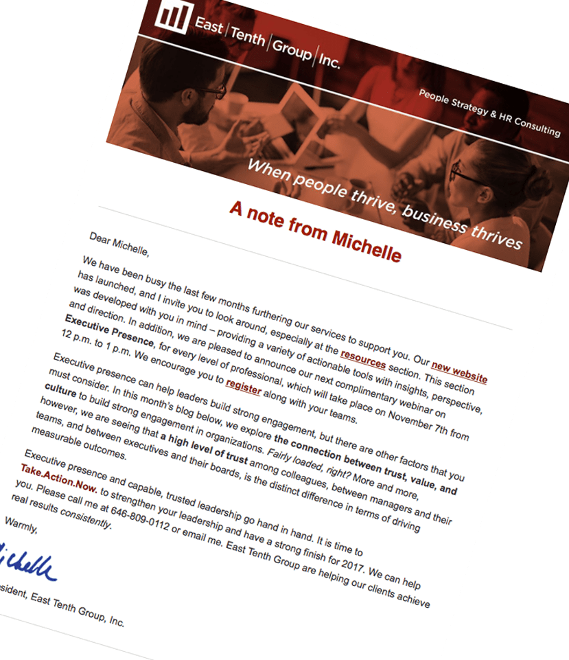 Take Action Now newsletter.